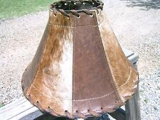 Leather Lamp shade with Cowhide 0947