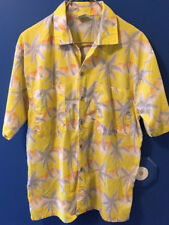 Tropicana Men's Large Shirt Hawaiian Vintage Yellow Gray Orange Aloha