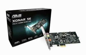 Asus Xonar SE 5.1 PCIe Gaming Soundkarte mit Low Profile Bracket