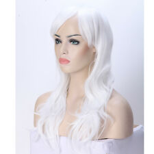 Thick Long Cosplay Costume Wavy Full Wig Synthetic Wigs Dip Dyed Brown Blonde CY