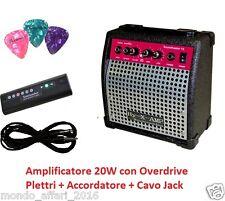 Amplificatore per Chitarra Acustica o Elettrica da 20W Cavo Accordatore Plettri