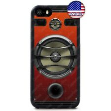 Speaker Stereo Hard Cover Funny Rubber Case For iPhone 11 Pro Max Xs XR 8 Plus 7