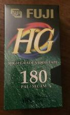 Fuji HG VHS Video Cassette Blank Tape 180 Min 3 HRS Factory PAL X 2