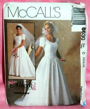 Uncut McCall Alicyn Exclusives Sz 10-14 Bridal Wedding Gown Dress Pattern 8630