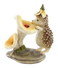Hedgehog with Ladybug Statue Miniature (4449) Fairy Garden Terrarium 3.25""