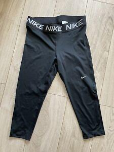Nike Women's Black Skinny Stretch Capri Leggings, 14-16 XL