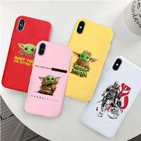 Baby Yoda Meme Star Wars Mandalorian soft silicone Case iPhone 7 8 XS 11 Pro Max
