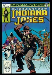 FURTHER ADVENTURES OF INDIANA JONES #1, MARVEL COMICS, NM+ 9.6 OR BETTER!