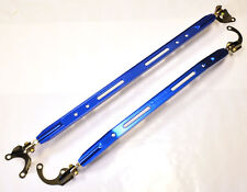 Megan Racing Honda Civic Integra Front & Rear Upper Strut Tower Brace Bar Blue