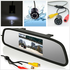 "Car Rearview Mirror 4.3"" LCD Screen Monitor Display+Infrared Night Vision Camera"