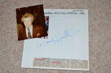 David Hamilton signed autographe en personne album feuille touching cousins photographe