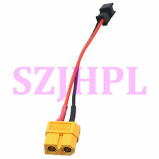 "XT60 Female To SM 2Pin plug Female Adapter 4"" 20awg Wire LED RC lipo battery FPV"
