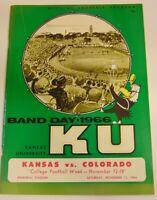 1966 Colorado Buffaloes Kansas Jayhawks NCAA Football Program KU Big Jay Band