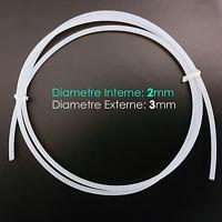 Ø 2x3mm Tube Teflon PTFE Tuyau Pneumatique pour Filament 1.75mm Extrudeur Bowden