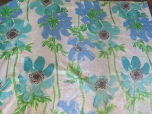 Vintage Vera Neumann KING size Floral Burlington Top Flat Sheet Peonies Poppies