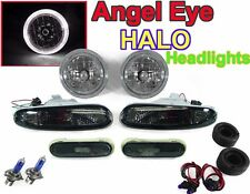 1990 1991 1992 93 94 95 96 97 MX5 MIATA HALO HEADLIGHTS+SMOKE BUMPER+SIDE LIGHTS