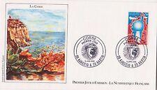ENVELOPPE 1er JOUR LA CORSE TIMBRES LA CORSE DE 1982