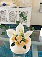 WEDDING CAKE SUGAR FLOWERS & LEAVES IN GOLD & IVORY ALSO IN MOST COLOURS  D  76