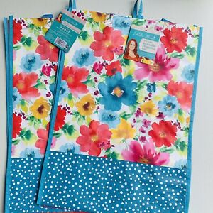 The Pioneer Woman Reusable Shopping Bag Breezy Blossoms Tote (2 Pack)