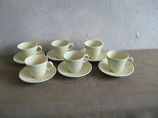 British Woods Ware Pottery Cups & Saucers