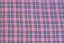 Tartan Pink Kintyre Check Dress Fabric Polyviscose 150cm Wide  FREE P+P