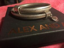 NEW BOX & CARD ALEX and ANI VINTAGE 66 DRIFT Russian SILVER Beaded Wrap BRACELET