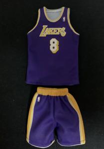 custom made 1/6 action figure lakers kobe bryant #8 purple jersey
