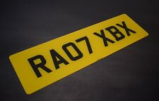 Single Large Rear 21x6 Standard road legal Number Plate 100% MOT Compliant