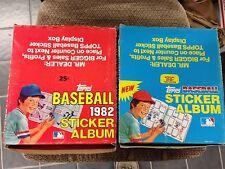 BOX OF 12 1981 & 1982  Topps Baseball Sticker books unused Albums BRETT CARTER