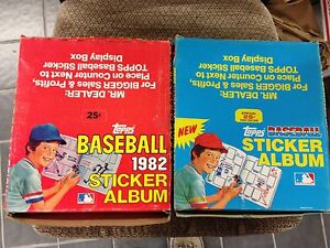 BOX OF 12 1981 & 1982  Topps Baseball Sticker books unused Albums BRETT CARTER