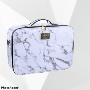 *NEW*Large MARBLE 2-layer makeup organizer/bag cosmetic Professional Travel case