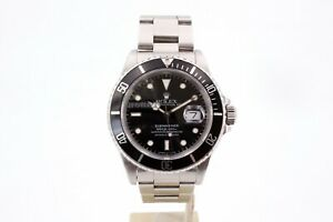 Rolex Submariner Date 16610 Full Set Box and Papers 1991