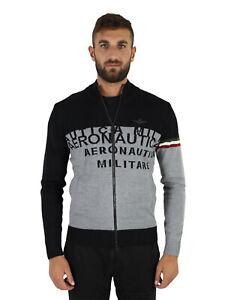 AERONAUTICA MILITARE Maglia maglia mezza zip Nero/grigio MA1353L384 94158