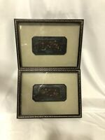 Bombay Company Ancient Temple Carvings 1 & 2 Shadow Box Floral Lot Of 2