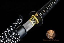 Clay Tempered Japanese Samurai Katana Sword Folded Steel Sharp Zen Battle Ready