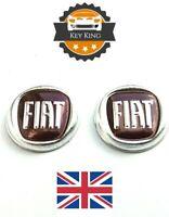 2 x 15mm Fiat Remote Key Fob Badge Emblem Logo Sticker 500 Ducato Punto Panda