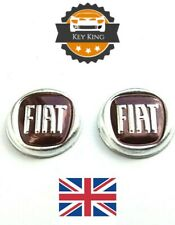 2 x 15mm Fiat Remote Key Fob Badge Emblem Logo Sticker 500 Ducato Punto Panda