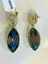 & Champagne Crystal Gold tone earrings Authentic Alexis Bittar Large Dark Pink