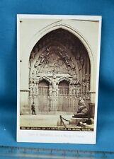 1870s CDV Swiss Carte De Visite Photo Portail Cathedrale De Berne Suisse England
