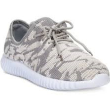 size 8 Dirty Laundry Hyphem Beige / Gray Sneakers Womens Lace Up Shoes