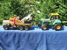 Lot of 2 Buddy L Rescue Force Police Tow Truck & Big Bruiser Workhorse Tractor