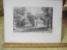Vintage Print,THIRD COURT SERAI BOURNOU,Engraving,WH.Bartlett,Turkey+Greace