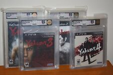 Yakuza 1 2 3 4 (Playstation 2 3 PS2 PS3) NEW SEALED COMPLETE SET MINT VGA 95!