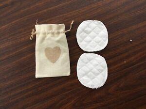 Washable Reusable Breast Pads Nursing Organic Plain Breastfeeding Cotton