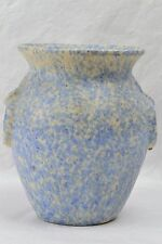 Burley Winter Pottery Vase, 1920's White Blue Urn Vase #53