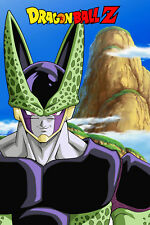 Dragon Ball Z Poster Perfect Cell with Logo 12inches x 18inches Free Shipping