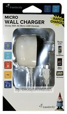 MIZCO 1pc WALL CHARGER 4ft MICRO USB Works With Android+Samsung+BlackBerry RAPID