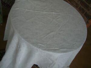 "Tablecloth 68"" (173cms)  Square Gorgeous white Floral Damask Cotton"