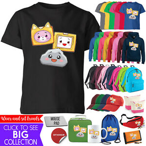 Foxy And Boxy And Rocky LankyBox T Shirt Gaming Boys Girls Hoodie Bag Gift Lot