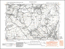 290NE repro Braithwell old map Yorkshire 1930 Stainton north